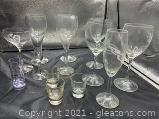 Assortment of Alcoholic Drinking Glass