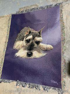 Mini Schnauzer Pickeri Throw Blanket