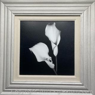 Arum-Lily Painting on Wood