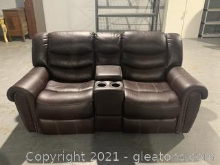 Rooms 2 GO Double Recliner with Arm Rest and Cup Holder