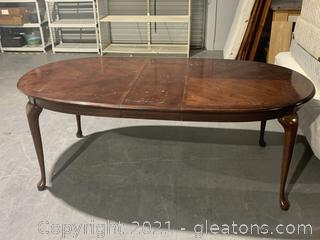 Oval Extendable Dining Room Table