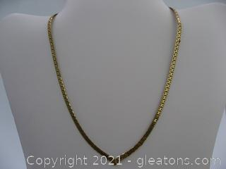 "14kt Yellow Gold ""V"" Shape Herringbone 18.25 Grams QUALIFIES FOR FREE SHIPPING"