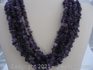 7 Strand Amethyst Necklace QUALIFIES FOR FREE SHIPPING