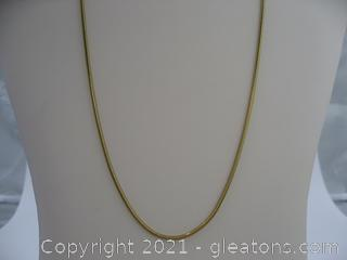 Gold Filled Snake Chain