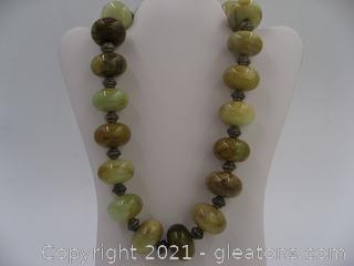 Large Jasper Beaded Necklace QUALIFIES FOR FREE SHIPPING