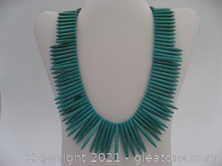 Reconstructed Turquoise Necklace QUALIFIES FOR FREE SHIPPING