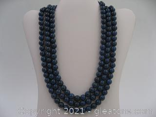 Reconstructed Lapis Lazuli Necklace QUALIFIES FOR FREE SHIPPING