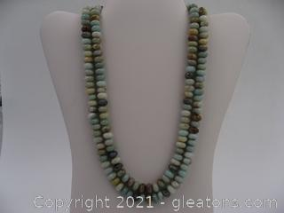 Amazonite Beaded Necklace QUALIFIES FOR FREE SHIPPING