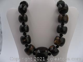 Wood Bead Necklace QUALIFIES FOR FREE SHIPPING