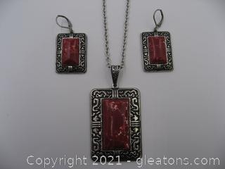 Dyed red Jasper Set QUALIFIES FOR FREE SHIPPING