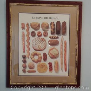 Framed Le Pain/The Bread Print