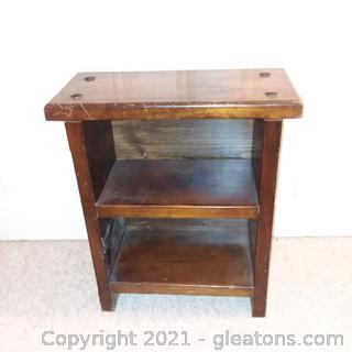 Small 2 Shelf Wooden Bookcase