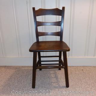 Unique Wooden Ladderback Chair