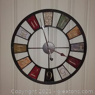 Kaleidoscope Large Oversized Decorative Wall Clock