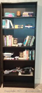 5 Shelf Bookcase- Brown (Shelf Contents not Included)