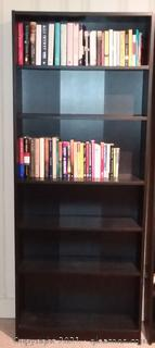 5 Shelf Bookcase-Brown Does not Include Books on Shelf