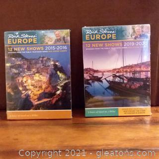 3 Rick Steve's Europe-12 New Shows DVD