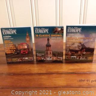 Collection of Rick Steve's Europe DVD's