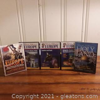 Collection of 5 Rick Steve's DVDs