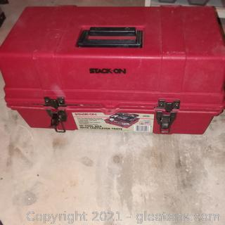 """19"""" Stack On Tool Box with Cantilever Trays- Includes Tools"""