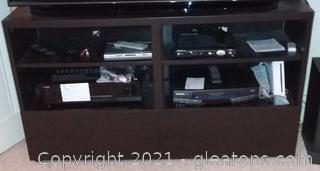 Entertainment Center with Storage (Items pictured on it are not included)