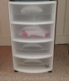 4 drawer Sterilite Container On Wheels