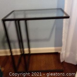 Glass and Metal C Table