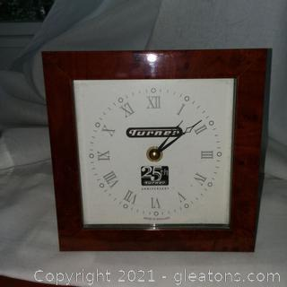 Turner Broadcasting 25th Anniversary Shelf Clock