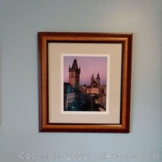 "Beautifully Framed Photographed ""Embracing the Night"" Prague- COA Signed"