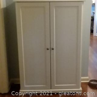 2 Door Wooden Storage Cabinet