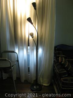 Ikea Kvart Floor Lamp with 3 Spot Lights