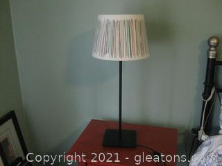 Ikea Bedside Table Lamp with Shade (B)