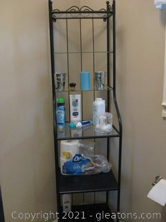 Small Baker's Rack Shelving Unit No.Contents Included
