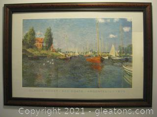 Framed/Matted Print by Claude Monet