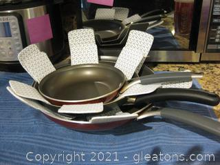 3 Piece Set of Tramontina + Good Cook Skillets