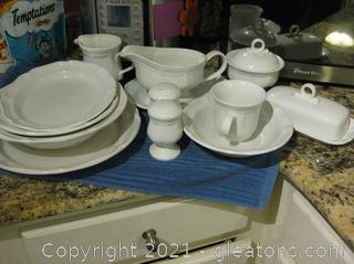 Set of Mikasa French Countryside Dinnerware Some Not in First Picture (F 9000)