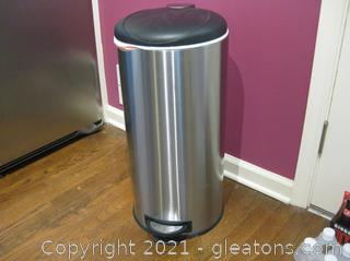 30L Round Step Trash Can-Unbranded
