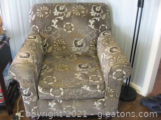 Rolled Arm Upholstered Accent Chair