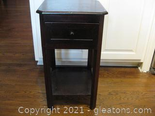 Small Wooden 2-Tier Side Table