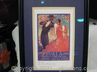 """Canvas Print of """"Sevilla Fiestas De Primavera"""" 1928 by DaPena"""