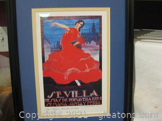 """Fine Art Reproduction of Sevilla Fiestas De Primovera 1924 19""""H x 14½""""W"""