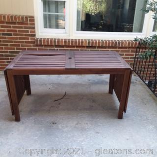 Rectangular Drop Leaf Outdoor/Patio Table