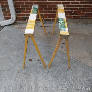 Pair of Crawford Pro Adjustable Saw Horses