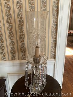 Hurricane Lamp with Prisms