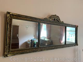 Art Noveau Etched Wall Mirror