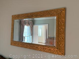 Gold Gilded Beveled Mirror
