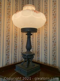 Bronze Stemmed Hurricane Lamp