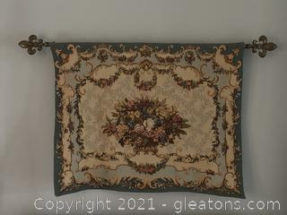 Autumn Tapestry with Fleur-De-Lis Rod
