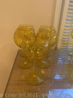 Royal Danube Handpainted Water Goblets