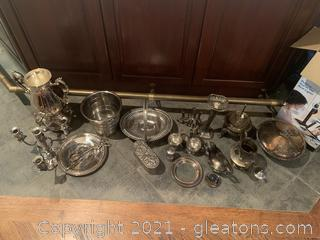 Large Collection of Silver and Silver Plate